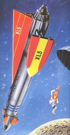 I absolutely love the old marionette TV show Fireball XL5, it also had an awesome space ship that would make a cool tattoo!