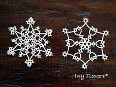 雪の結晶 みっつめ |Tiny Flowers* にゃんことてしごと ~猫とタティングレース~