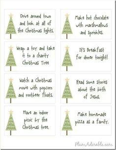 Bucket list for Christmas!