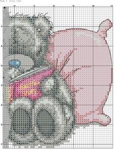 Love story 1 Cross Stitch Love, Cross Stitch Animals, Counted Cross Stitch Patterns, Cross Stitch Charts, Cross Stitch Designs, Cross Stitch Embroidery, Tatty Teddy, Baby Owls, Hand Embroidery Patterns