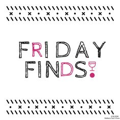 Friday Finds - Discussing Nat'l Drink Wine Day, coffee table trays, and YA books! #blog