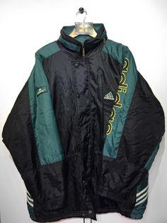 Adidas Equipment Windbreaker Jacket Vintage 90s Full Zip Roll Up Hood Mens Size Large zfB3KNE