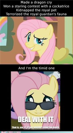 best of week Deal With It fluttershy if-you-dont-mind Like a Boss meme timid - - Couple Goals My Lil Pony, My Little Pony Comic, My Little Pony Drawing, My Little Pony Pictures, Mlp Memes, Mlp Pony, Pony Pony, Mlp Fan Art, Little Poney