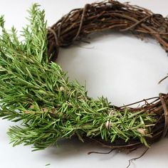 Overlap Bunches of Herbs, How to Make Herb Wreaths
