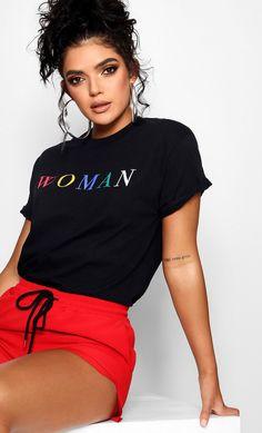 T-shirt Slogan, Women Slogan, T Shirts For Women, Quote Girl, Streetwear, Latest T Shirt, Aesthetic Fashion, White Women, Boohoo
