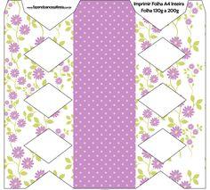 Caixa Bala Floral Lilás: