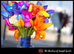 Stunningly beautiful BRIGHT #wedding #bouquet  www.thestudiosofjosephguidi.com