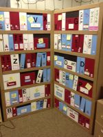 Evidence Shelves + several great ideas for props and decorations MrMarksclassroom.com
