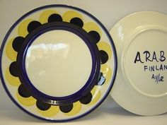 Paju pattern in blue & yellow Yellow Dinner Plates, Soup Bowls, Missing Piece, Salad Plates, Finland, Blue Yellow, Decorative Plates, Porcelain, Ceramics