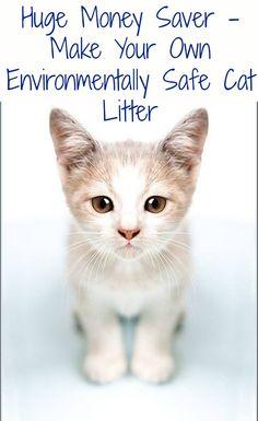 Huge Money Saver - Make Your Own Environmentally Safe Cat Litter – DIY &...