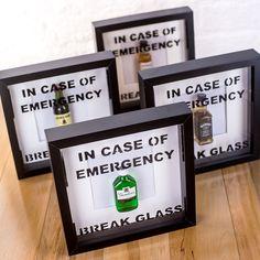 Incase Of Emergency Break Glass Novelty Picture Frames