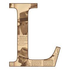 Alfabeto en periodico antiguo...L