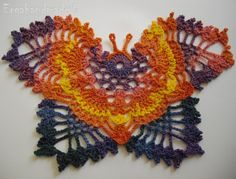 ergahandmade: Crochet Butterfly + Diagram + Free Pattern Step By...