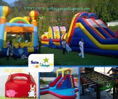 Que la #diversión no se detenga. Tenemos variedad de opciones para tu #evento!  Información #SaltayJuega 57970571 / inbox / Local 17C.Com. La Floresta zona 7 / saltayjuega@gmail... #celebración #cumpleaños #fiesta #fiestainfantil #juegos #niños #Guatemala #inflable #saltarin #saltar