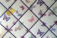 Large 60x40cm Laura Ashley Summer Meadow Butterfly Hand Crafted Fabric Notice / Pin / Memo / Memory Board £28.99