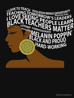 'Black Teachers Matter Hair Art' Relaxed Fit T-Shirt by blackartmatters Black Love Art, Black Girl Art, Black Is Beautiful, Black Girl Magic, Black Art Pictures, Black Artwork, Afro Art, Black Power, Black History Month