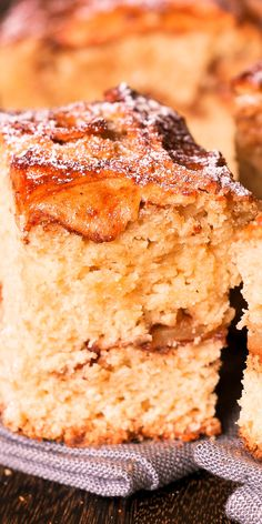 Apple Cinnamon Cake is a tall and fluffy apple dessert. Made with olive oil, fresh apples & cinnamon, it's dairy free and full of goodness & deliciousness! Apple Desserts, Apple Recipes, Healthy Desserts, Fun Desserts, Delicious Desserts, Cake Recipes, Dessert Recipes, Yummy Recipes, Recipies
