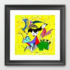 THE FROG PRINCE Framed Art Print by Adka - $32.00