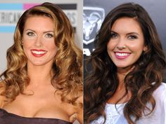 Audrina Patridge: Honey Brown to Dark Brown Hair Color And Cut, Hair Color Blue, Cool Hair Color, Hair Colours, Blonde Vs Brunette, Brunette Blue Eyes, Celebrity Hairstyles, Hairstyles With Bangs, Cool Hairstyles