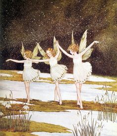 The Snowdrop Fairies by Ida Rentoul Outhwaite, 1930