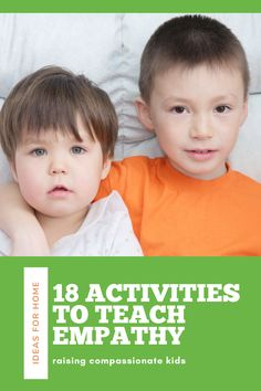 We can raise compassionate kids by teaching them empathy from a very young age. Here are 18 activities to promote kindness as well as suggestions for teaching emotional awareness and self-regulation skills. While the holidays are perfect for teaching preschool and elementary aged children how to be kind, the lessons can easily be done year round.