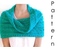 pattern available on easy - crocheted cowl