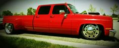 Red chevy dually