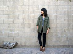 SALE vintage army jacket / military jacket / 1970s army button up jacket S - L