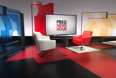 PBS NEWSHOUR - Interview Area wide shot