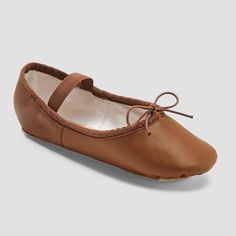 c5c0fdf4d06 Freestyle by Danskin Girls  Ballet Shoe - Brown 12