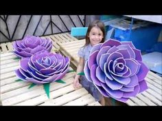 How to make a giant flower from yoga mats (Watch and Learn #4 CONTEST) - YouTube