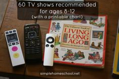 Have trouble choosing what shows to let your kids watch? Here's a list of more than 60 recommended TV shows for ages 8-12 - enjoy!