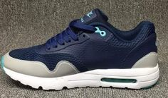 Mens Nike Air Max 1 Ultra Moire Navy Blue White Mesh