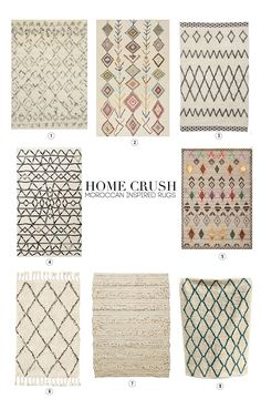 Our favorite Moroccan-inspired rugs featuring Rugs USA's Berber Moroccan Shag!
