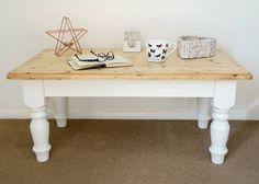 Chalk painted pine coffee table via Isobelle's Pantry Vintage & Handmade