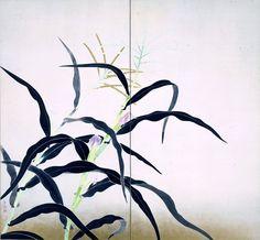 小林古径「唐蜀黍(とうもろこし)」東京国立近代美術館蔵