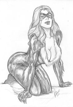 Black Cat - Pencil on cardstock by Leo Rodrigues by Ed-Benes-Studio