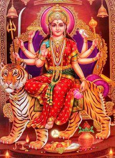 Receive Nine-Fold Blessings from Powerful Forms of Goddess Durga on Auspicious Ugadi. Durga Images, Lakshmi Images, Durga Kali, Shiva Shakti, Shiva Art, Hindu Art, Navratri Wallpaper, Navratri Puja, Vaishno Devi