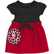 Oklahoma Sooners Infant Girls Daisy Dress - Black/Crimson