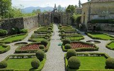 elegante jardim italiano do Villa Torrigiani perto de Lucca, Camigliano, Lucca, Toscana, It photo