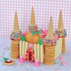 Un anniversaire ou une pyjama party en vue? Je vous propose ce château à croquer très facile à faire. J'ai fait une base de génoise fourrée aux fraises, mais vous pouvez faire un gâteau aux yaourts ou un quatre quarts... Vous pouvez télécharger le pdf...