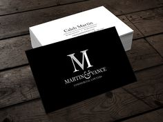 Custom business card design by our in-house designer for Marin & Vance Commercial Lawyers. We also designed letterhead and business cards for them.