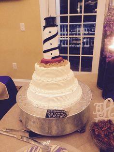 Cape Hatteras lighthouse cake!