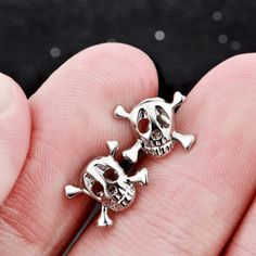 *** Buy 2 Items Get 1 Free ******FREE FAST SHIPPING*** (usually delivered in… Jewelries, Silver Color, Skeleton, Cufflinks, Stud Earrings, Sterling Silver, Free, Stuff To Buy, Accessories