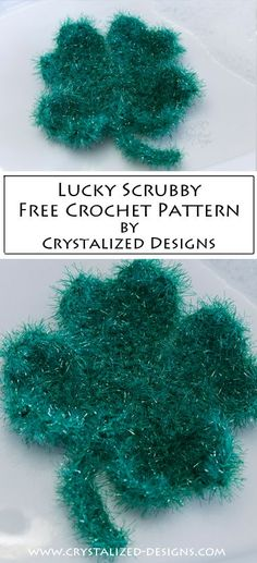 This free 4 leaf clover crochet scrubby pattern will be lucky enough to get you through cleaning any time of year! Though I do highly recommend crocheting your heart out! Holiday Crochet, Crochet Gifts, Crochet Yarn, Free Crochet, Crochet Designs, Crochet Patterns, Scrubby Yarn, 4 Leaves, Crochet Leaves