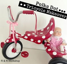 Polka Dot Tricycle Makeover