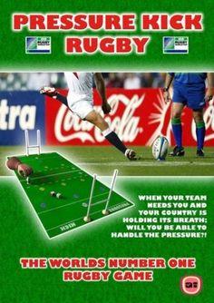 Strandtuch, Badetuch, Spiel,  Beach towel Game, Rugby Pressure Kick, Fingerspiel