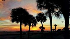 Chad Barron with a great shot of tonight's sunset from Treasure Island. Very nice! — at Treasure Island Beach.