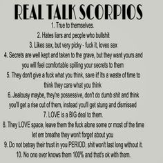 Number 3 doesn't relate to some Scorpios Astrology Scorpio, Scorpio Traits, Scorpio Zodiac Facts, Zodiac Signs Scorpio, Scorpio Quotes, Zodiac Sign Traits, Zodiac Horoscope, Zodiac Quotes, Scorpio And Cancer
