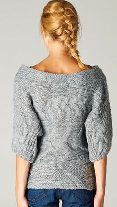 Off Shoulder Cable Knit Sweater <3